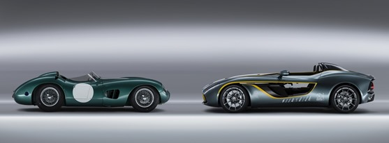 Aston Martin CC100 speedster and 1959 DBR1 Race car