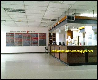 Resepsionis di Lam Wah Ee Hospital