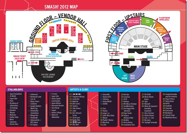 SMASH! 2012 Floorplan