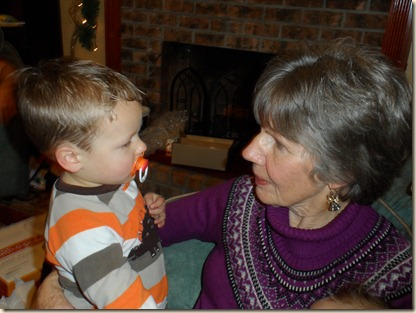12-25 Parker and Grandma