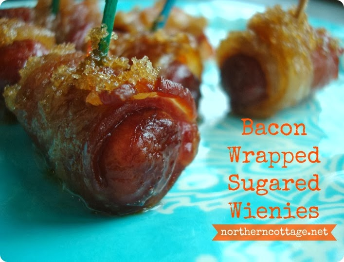 bacon wrapped sugared wienies{NorthernCottage}
