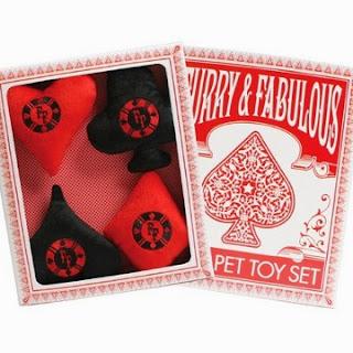 Poker Dog Toys - Set of 4 Boxed