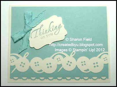 pretty pool party bow and thinking of you with button bunch punch