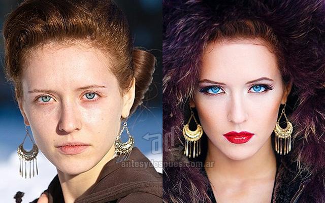 Antes y despues del maquillaje 2