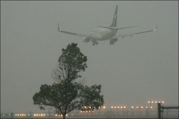 الطيران في العواصف