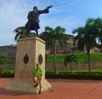 con Blas de Lezo en Cartagena de Indias