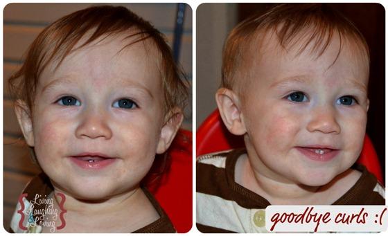 davis first haircut collage