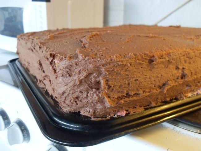 OL-kage - inden marcipanen