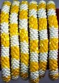 rollover bracelet yellow white