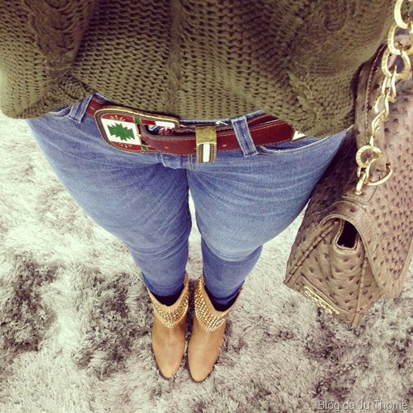 look calça jeans, trico e botinha (1)