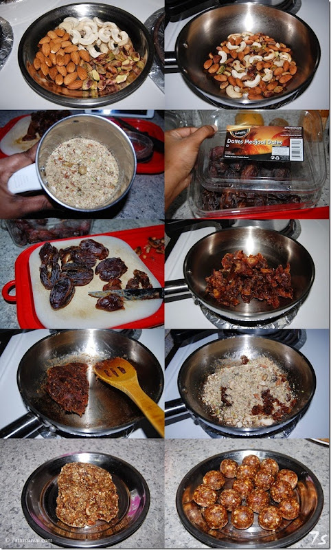 Dates and nuts laddu process