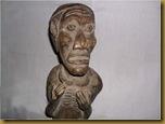 Patung pria primitif - kepala