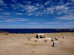 Ancient altar on Isla del Sol, Lake Titicaca.