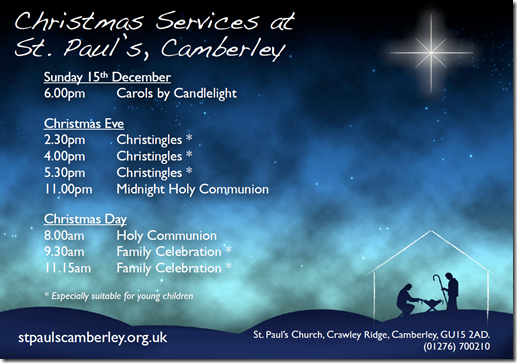 St Paul's Christmas Services 2013