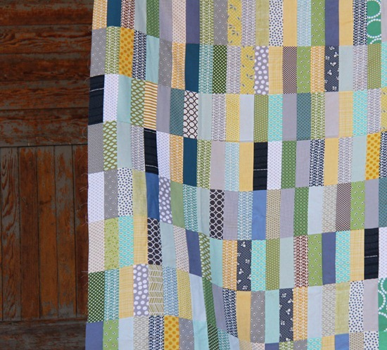 Ryan's Strip Quilt Closeup