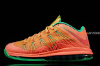 nike lebron 10 low gr watermelon 2 06 Release Reminder: Nike LeBron X Bright Mango aka Watermelon