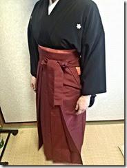 卒業式に向けて袴を手作り (2)
