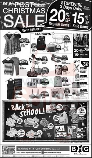 BHG Post Christmas Sale Singapore Jualan Gudang EverydayOnSales Offers Buy Sell Shopping