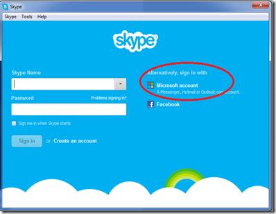 skype login page
