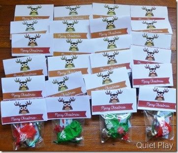 Christmas treat bags for the class