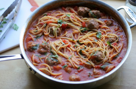weeknight spaghetti and meatballs 1