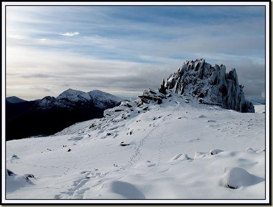 The Snowdon massif from near Glyder Fach