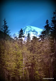 First glimpse of Mt. Rainier