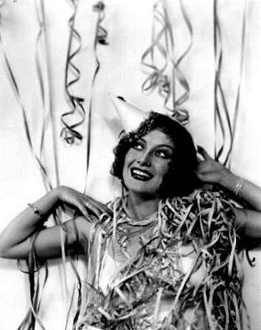 Joan Crawford rings in the New Year - c Late 1920s