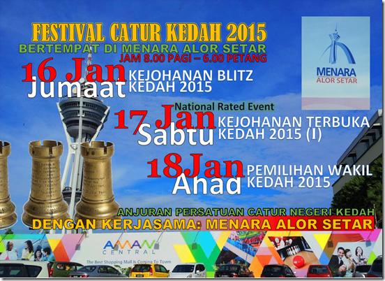 Festival Catur Kedah 2015 flyer NRE-2