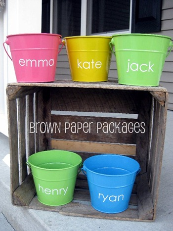 vinyl easter pails tutorial