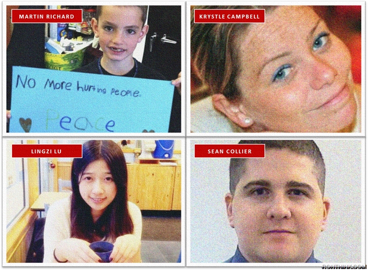 Remembering the lives lost during and after the Boston Marathon Bombing.