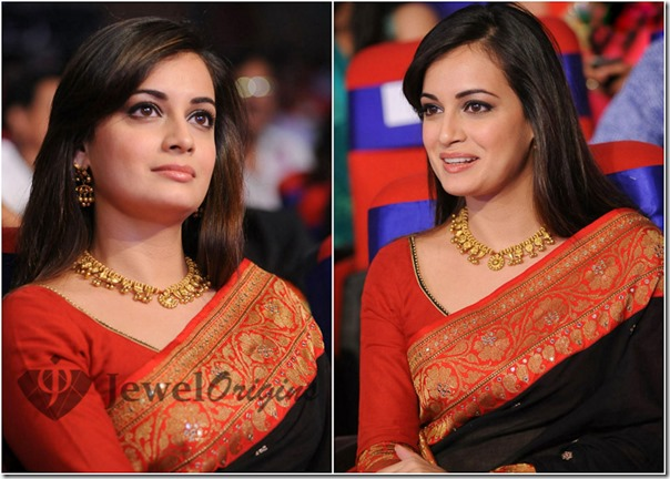 Dia_Mirza_Gold_Necklace