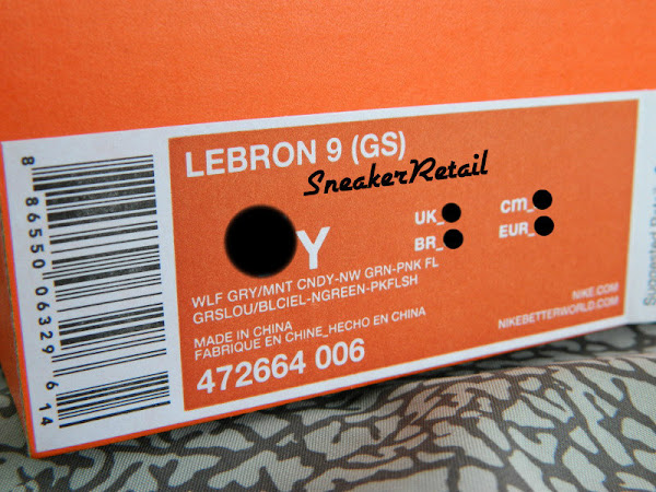 Detailed Look at Kids8217 Nike LeBron 9 GS 8220Miami Vice8221
