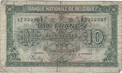 Belgian Franc 1 1944-45