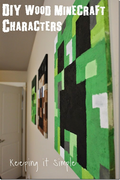 Large-DIY-Minecraft-Wood-Characters