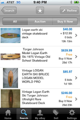 These are boards that were recently on E-Bay. A Torger Johnson (Blank Only) for $639.00, wow and to think they cost us around $5.00-$6.00 a board!!!