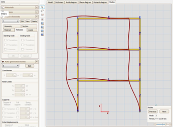 Civil Engineering Software : Frame Dynamic Analysis