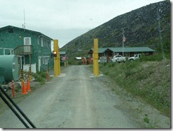 Border crossing from the Yukon to Alaska
