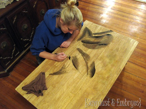 Shading with Stain to  make BEAUTIFUL artwork! {Sawdust and Embryos}
