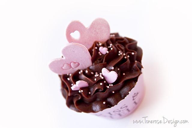valentines dag cupcakes marsipan hjerter