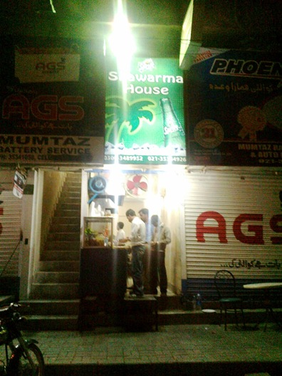 Shawarma House at Saba Avenue, DHA, Karachi