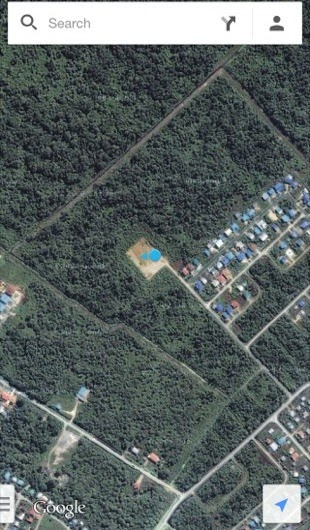 Google map satellite view showing the park location - I am the blue dot