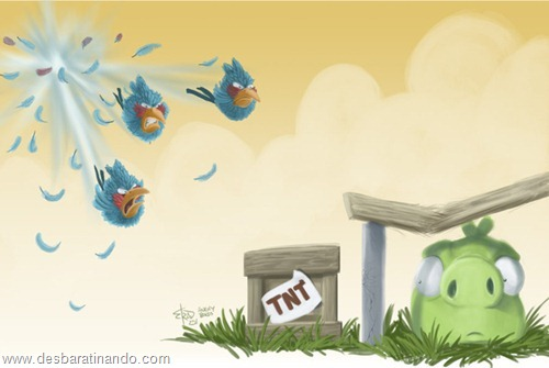 angry birds fan art desbaratinando  (1)