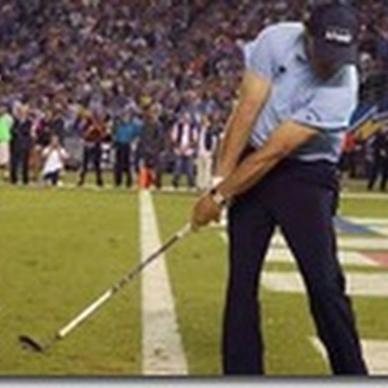 Video: Phil Mickelson Misses Halftime Shot At San Diego Chargers Game