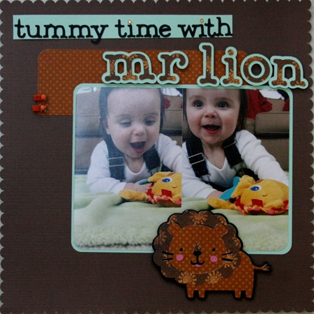 Tummy Time w Mr. Lion