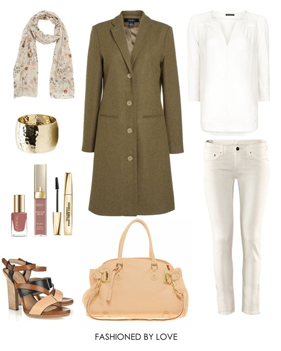 how to wear white jeans outfit idea
