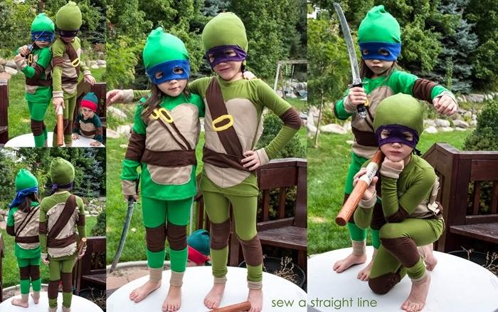 TMNT Teenage Mutant Ninja Turtles Costume sew a straight line-1b