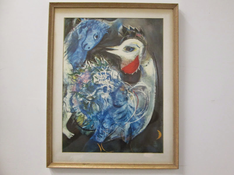 Abstract Unsigned print Horse and Bird