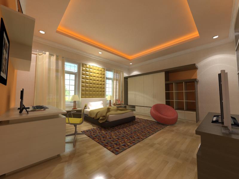 rumah arsitektur dan interior desain modern bedroom