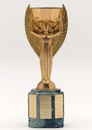 """""""The original Jules Rimet Trophy was probably melted down for its value in gold..."""" David Goldblatt, Football Writer"""